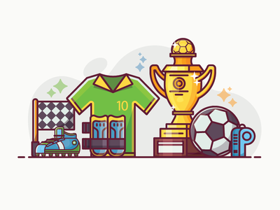 World Football Cup Banner stuff flat design championship world cup soccer football concept lifestyle
