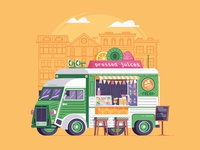 Summer Food Truck with Juices