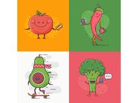 Vegetable Characters. Vol.1