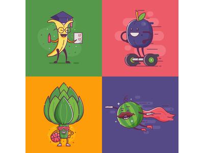 Vegetable Characters. Vol.2