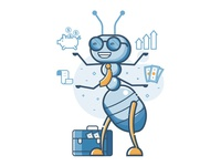 Business Ant Character