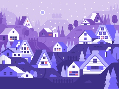 Winter village  4x