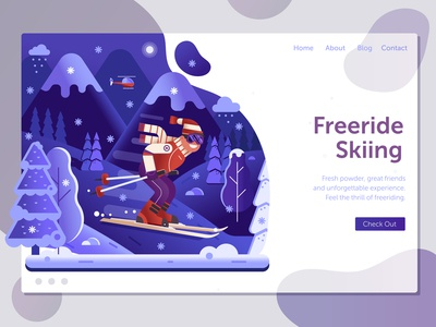 Freeride Skiing Ski Resort Landing Page