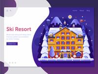 Winter Ski Resort Landing Page