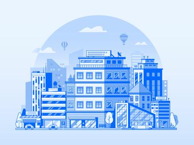 Line Modern City Urban Concept