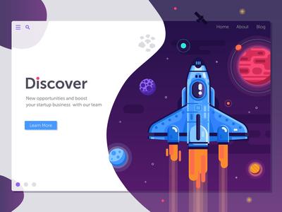 Space Shuttle Startup Banner