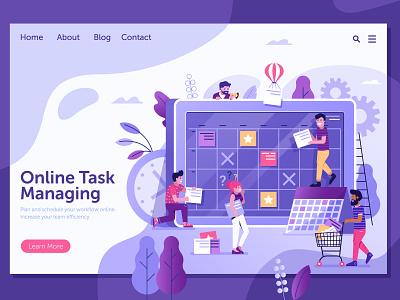Online Task Board Managing concept illustration ui control time work planning managing scrum board task task manager