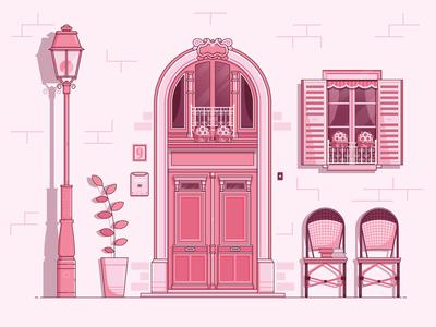 Paris Inspired Vintage Door