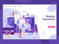 Mobile Payment Landing Page Concept