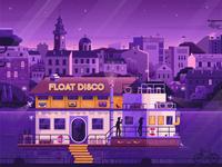 Floating Disco Barge in Belgrade