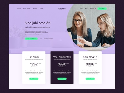 Accounting Service Web, UX & UI Design finance bookkeeper bookkeeping landing design landing page web design design ux ui website home page service accountant accounting