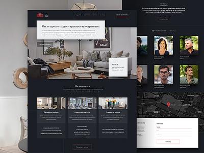 Interior design landing webdesign web ui simple minimal landing design