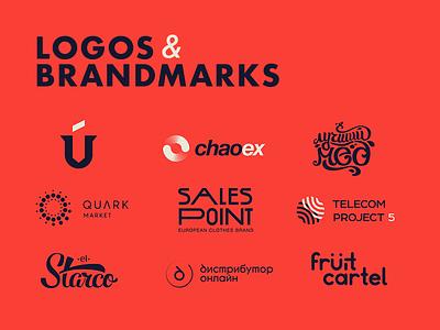 LOGOS & BRANDMARKS emblem mark logo mark type logo brandmarks logo development branding logos logotype logo