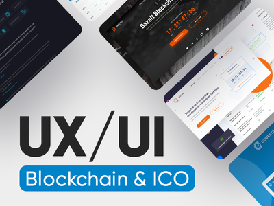 UX/UI Solutions  for Blockchain & ICO Projects dashboad trading bitcoin landing  page interaction design animaiton web design ux ui ethereum ico blockchain