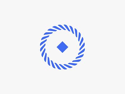 Logo for jewellery shop logomark blue diamond rope knot jewellery brandmark logo