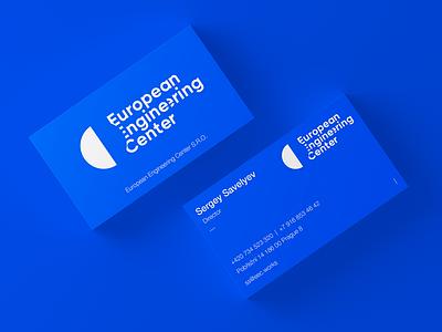 European Engineering Center logotype design vcard planet blue brandlogo space science visitingcard branding logo