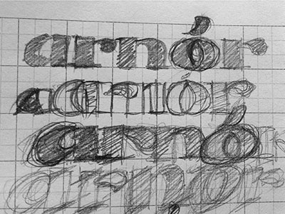 Personal branding sketches process personal branding custom type