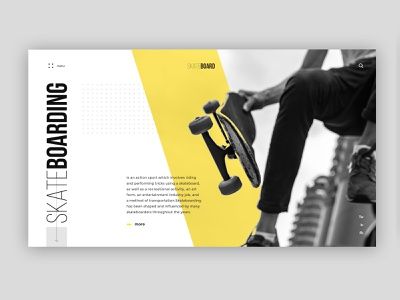 Skateboarding extreme sport clean minimal webdesign board skate desktop ui ux typography web design