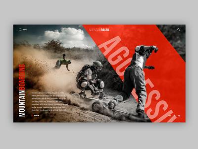 Mountainboarding typography homepage mountain boards design desktop board ux web ui