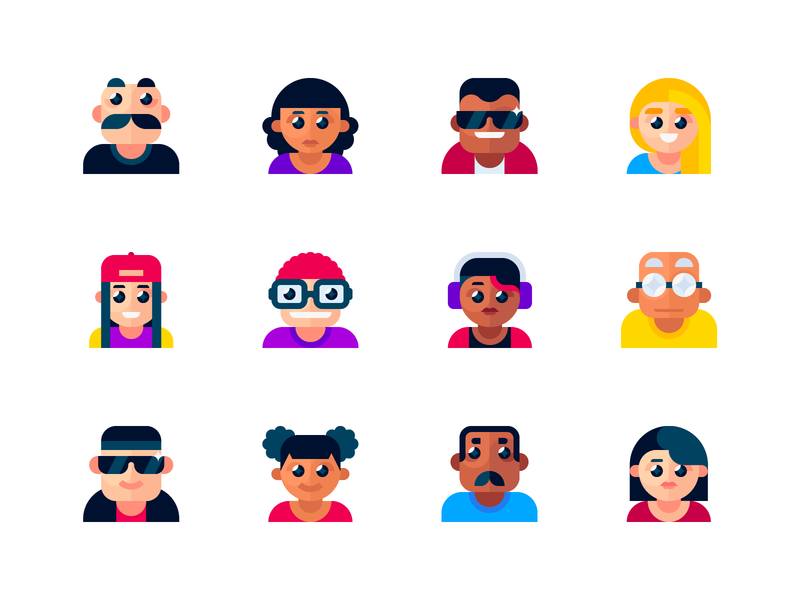Avatar flat icons vector madeinaffinity userpic avatars