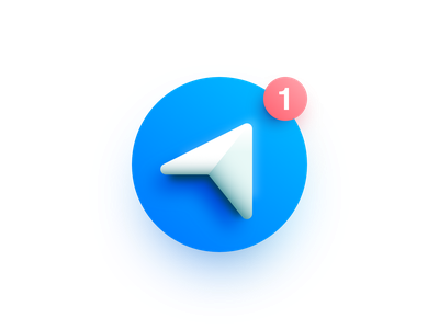 Telegram vector illustration affinity designer messenger icon logo telegram