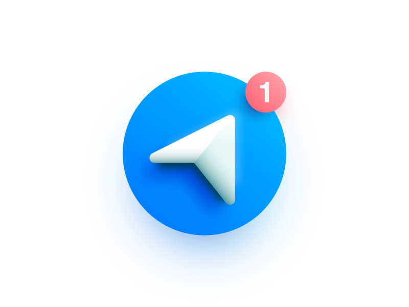 Telegram vector illustration affinity designer messenger icon logo telegram