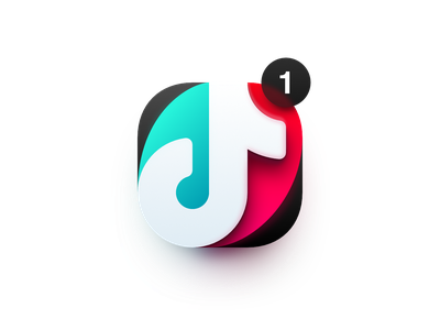 TikTok notification big sur macos madeinaffinity vector illustration affinity designer logo icon tik tok