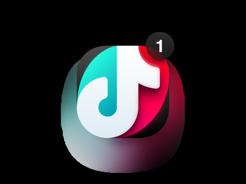 TikTok notification big sur macos madeinaffinity vector illustration affinity designer logo icon tik tok