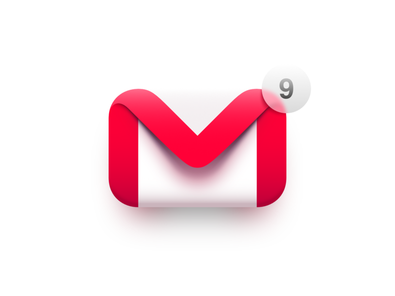 Gmail macos big sur envelope google notification 3d vector illustration affinity designer logo icon mail gmail