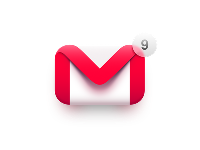 Gmail macos big sur envelope google notification 3d vector illustration affinity designer logo icon mail gmail