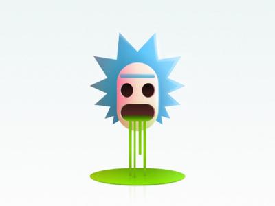Rick face head vector green liquid morty rick rick and morty