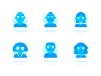 Avatars icon blue vector illustration affinity designer madeinaffinity avatar icons face userprofile userpic avatar