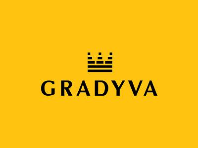Gradyva - beekeeping minimal yellow black crown queen apiculture beekeeping honey
