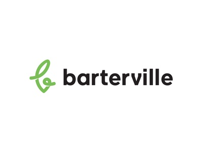 Barterville typography business social monogram black green society city town ville barter