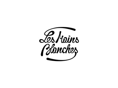 Les Mains Blanches - The White Hands - french bakery flour dough hands logo design lettering typography white french bakery