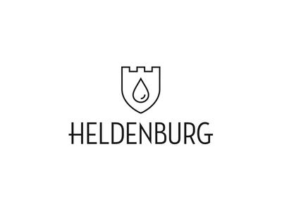 Heldenburg - Bottled mineral water from Transylvania  droplet drop shield ruins bottle water mineral transylvania citadel