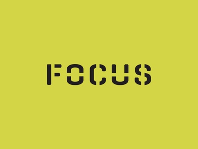 FOCUS - Moving Services stencil yellow services moving focus