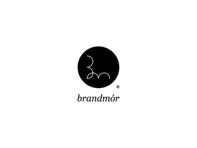 brandmor los logos trade mark italic serif typography design branding minimal black  white logo monogram personal