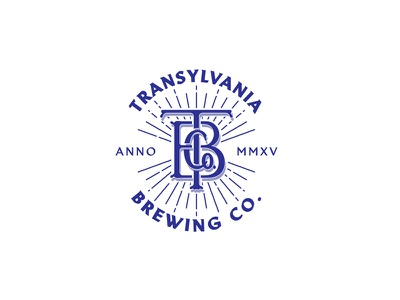 TRANSYLVANIA BREWING Co.TM monogram typography handmade craft brewery transylvania beer craft beer