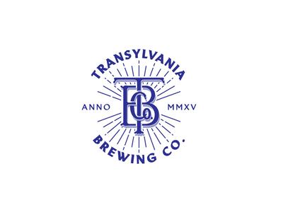 TRANSYLVANIA BREWING Co.TM monogram typography handmade craft brewery transylvania beer craft beer