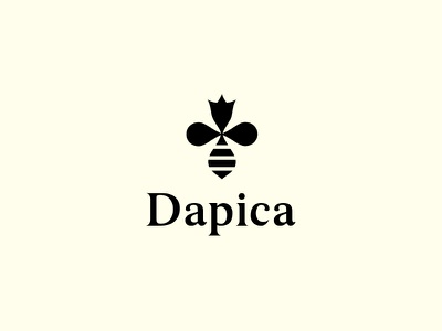 Dapica - honey minimal simple honeybee flower beekeping apiculture hive honey crown bee queen