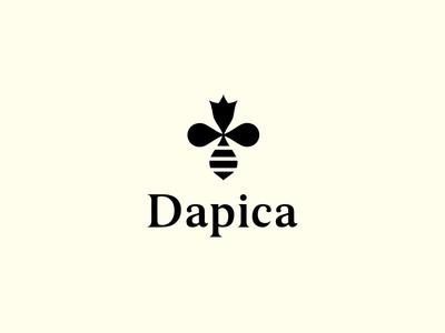 Dapica - honey minimal simple honeybee flower beekeping apiculture hive honey crown bee queen