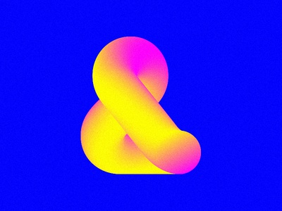 R&G&B typo bold fat pink yellow color bright rgb ampersand