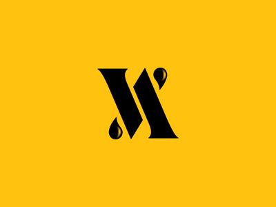 Abbazia di Vidor typo initials minimal monogram black yellow winelabel logo