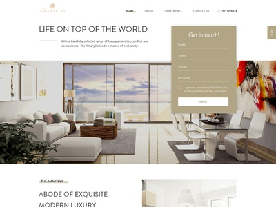 The Amaryllis Landing Page Concept