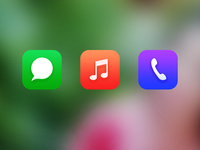 Icons redesign For Ios7