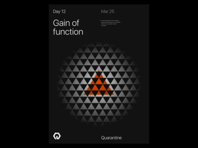 Quarantine Day 12 | 42.559 / -83.113 quarantine experiment poster design