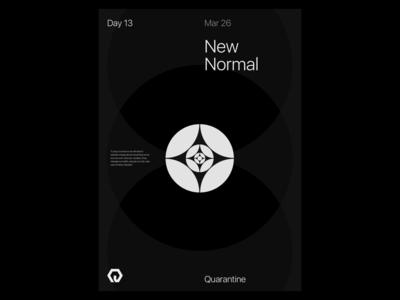 Quarantine Day 13 | 42.559 / -83.113 quarantine experiment poster design