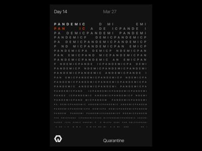 Quarantine Day 14 | 42.559 / -83.113 quarantine experiment poster design
