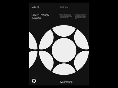 Quarantine Day 16 | 42.559 / -83.113 quarantine experiment poster design